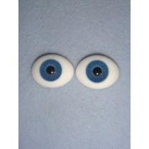 |Doll Eye - Flat Back Glass - 22mm Blue