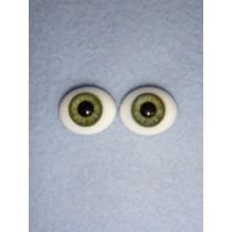  Doll Eye - Flat Back Glass - 22mm Green