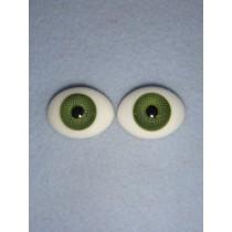 |Doll Eye - Flat Back Glass - 22mm Green