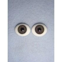  Doll Eye - Flat Back Glass - 24mm Gray