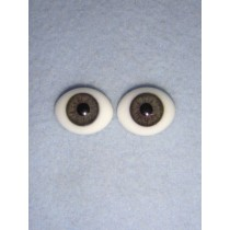  Doll Eye - Flat Back Glass - 8mm Gray