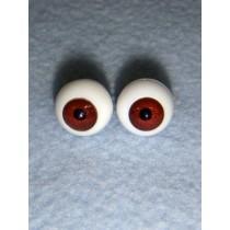|Doll Eye - German Crystal Acrylic - 12mm Dark Brown