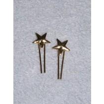 |Doll Hair Ornament - Gold Star