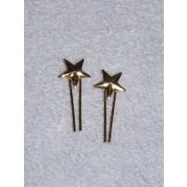  Doll Hair Ornament - Gold Star