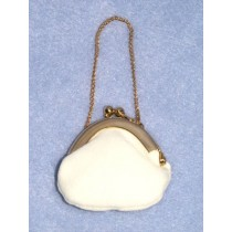 "|Doll Purse - 2"" Cream Plush"
