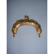 "|Doll Purse Frame - 2 1_2"" Gold"