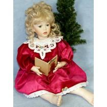 "|Dress - 20"" Antique Rose Velour"
