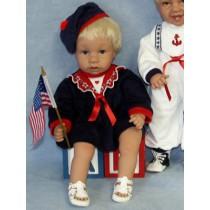 " Dress - Sailor - 22"" Navy w_Red"