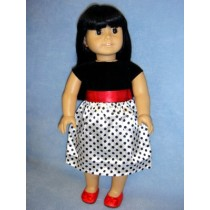 "|Dressy Polka Dot Dress for 18"" Doll"
