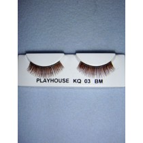 |Eyelashes - Fine - Multi-Brown