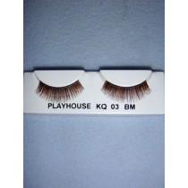 |Eyelashes - Fine - Multi-Brown