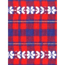 |Fabric-Plaid w_White Flower Stripe
