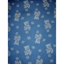 |Fabric - Baby Bears Denim - Blue