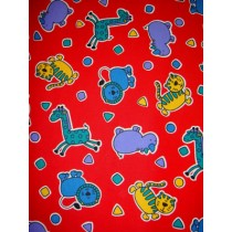 |Fabric - Corduroy w_Animals 1 Yd