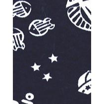 |Fabric - Nautical Knit-Navy w_White