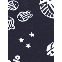 |Fabric - Nautical Knit-Navy w_White