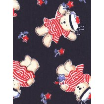 |Fabric - Sailor Bears Woven - Navy