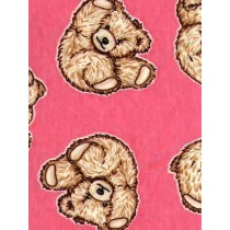 |Fabric - Tumbling Teddies - Pink