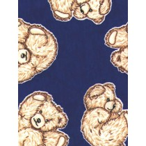 |Fabric - Tumbling Teddies - Royal