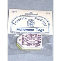 "|Favorite Findings - 1 1_2"" Halloween Tags - pkg_6"