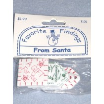"|Favorite Findings - From Santa Tags 1"" - 1 1_2"" - pkg_ 6"