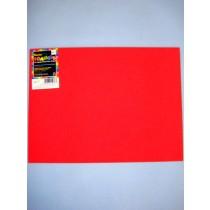 "|Foamies Craft Foam - Red 9""x12"""