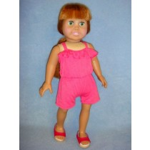 "|Fuchsia Romper for 18"" Doll"