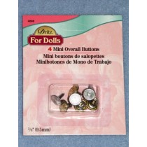 |Gilt Mini Overall Buttons - Pkg_4