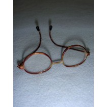 "|Glasses - 3"" Tortoise Wire"