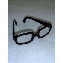 "|Glasses - Hipster - 3 1_4"" Black"