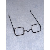 "|Glasses - Square w_No Lens - 4"" Black Wire"