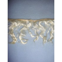 "|Hair - Wavy Mohair Weft - 4"" Natural"
