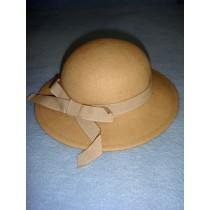 """ Hat - 100% Wool - 13 1_2"""" Beige"""