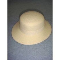 "|Hat - 100% Wool - 13 1_4"" Cream"