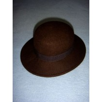 "|Hat - 100% Wool - 13 1_4"" Dark Brown"