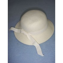 "|Hat - 100% Wool - 13"" Cream"