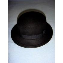 "|Hat - 100% Wool - 15 1_2"" Black"