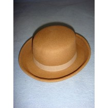 "|Hat - 100% Wool Felt Flat Top - 13"" Cammello"