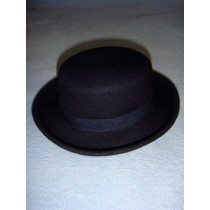 "|Hat - 100% Wool Felt Flat Top - 13"" Marine"