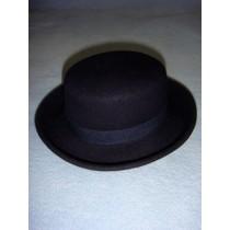 "|Hat - 100% Wool Felt Flat Top - 13"" Marine"