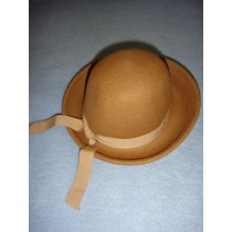 "|Hat - 100% Wool Felt Round Top - 12"" Cammello"