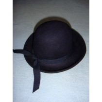 "|Hat - 100% Wool Felt Round Top - 12"" Marine"