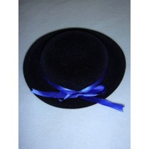 "|Hat - Classic Flocked - 6 1_2"" Dark Blue"
