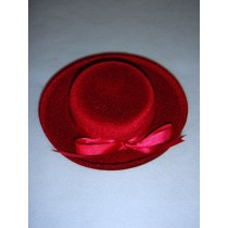 "|Hat - Classic Flocked - 6"" Burgundy"