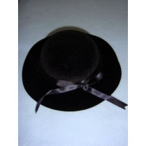 "|Hat - Classic Flocked - 7"" Black"