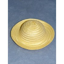 "|Hat - Fine Straw - 6"" Cream"