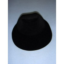 "|Hat - Flocked Bonnet - 5 1_4"" Black"
