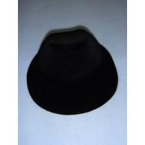 " Hat - Flocked Bonnet - 5 1_4"" Black"