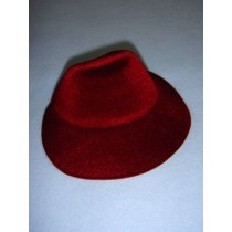 " Hat - Flocked Bonnet - 5 1_4"" Burgundy"