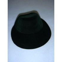 " Hat - Flocked Bonnet - 5 1_4"" Dark Green"